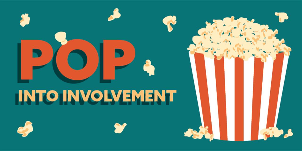 Pop into Involvement Event Logo