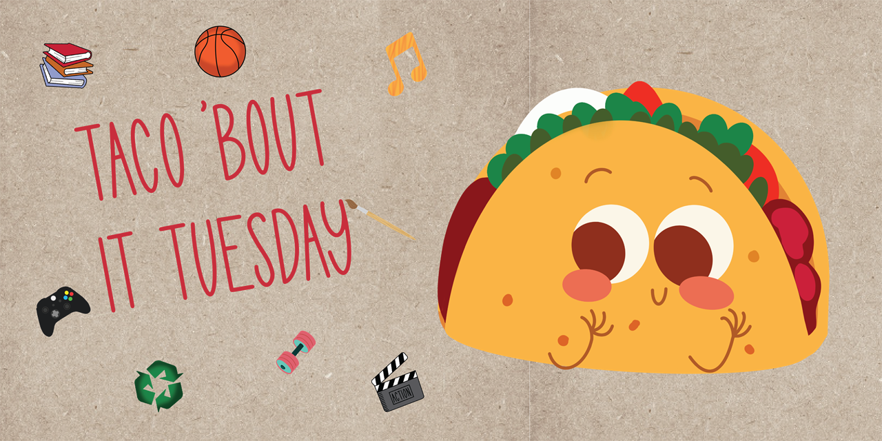 Taco 'Bout it Tuesday | Topic: Books & Movies | CANCELLED Event Logo