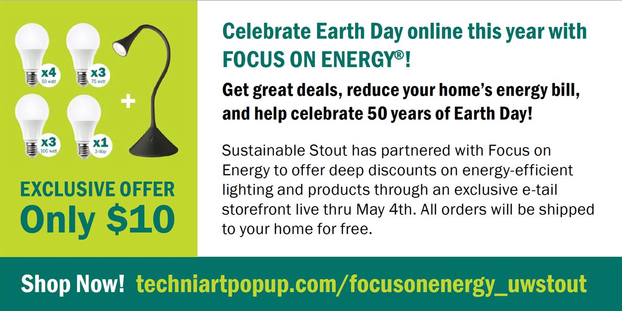 Earth Week Pop-Up Shop Event Logo