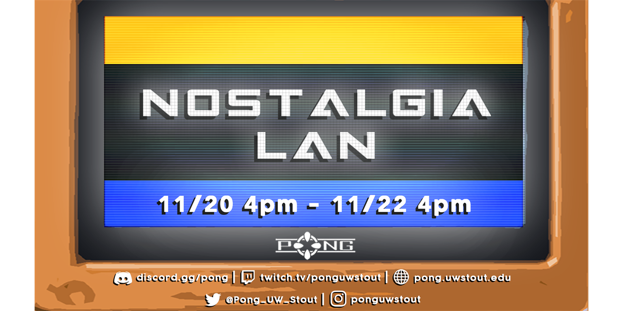"""PONG November """"LAN"""" (Nostalgia-lan) Virtual Event Logo"""