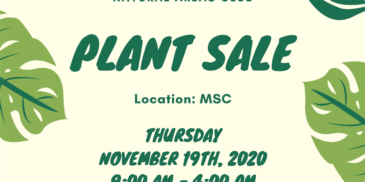 Natural Areas Club: Winter Plant Sale Event Logo