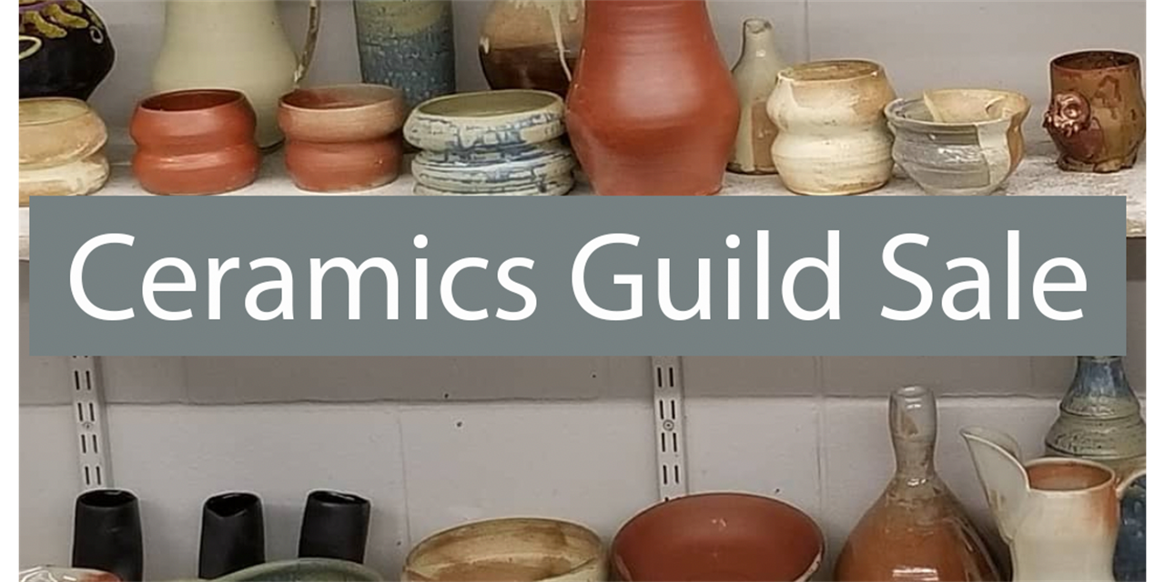 Ceramics Guild Pottery Sale Event Logo