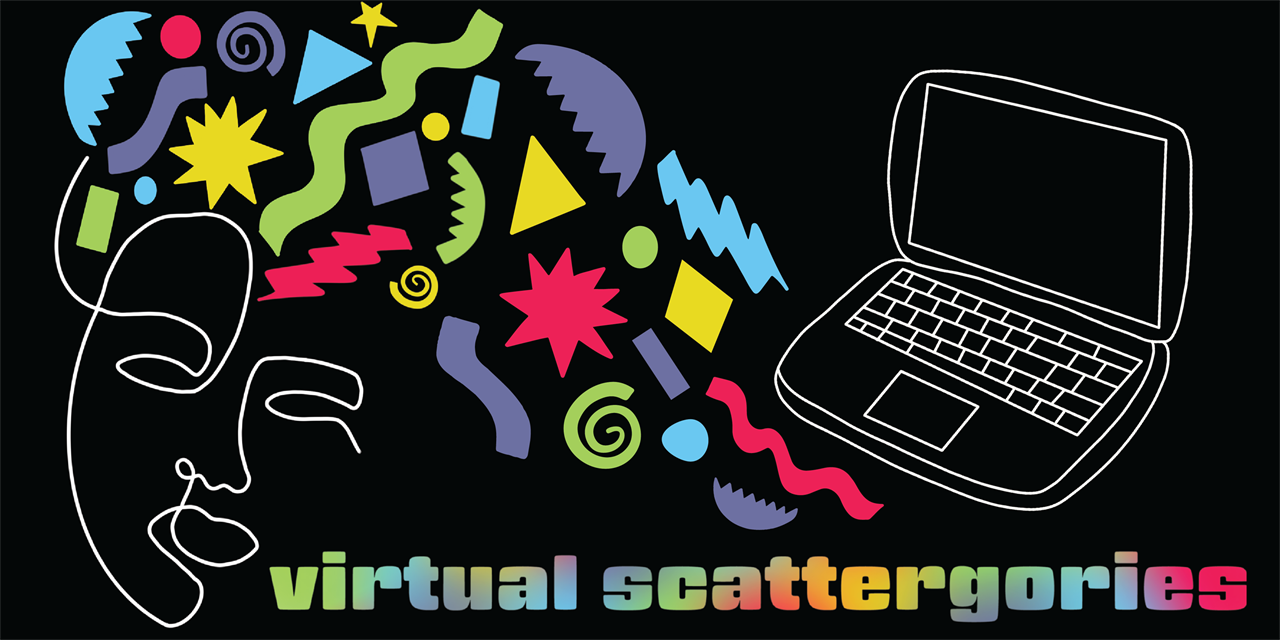 Virtual Scattergories Event Logo