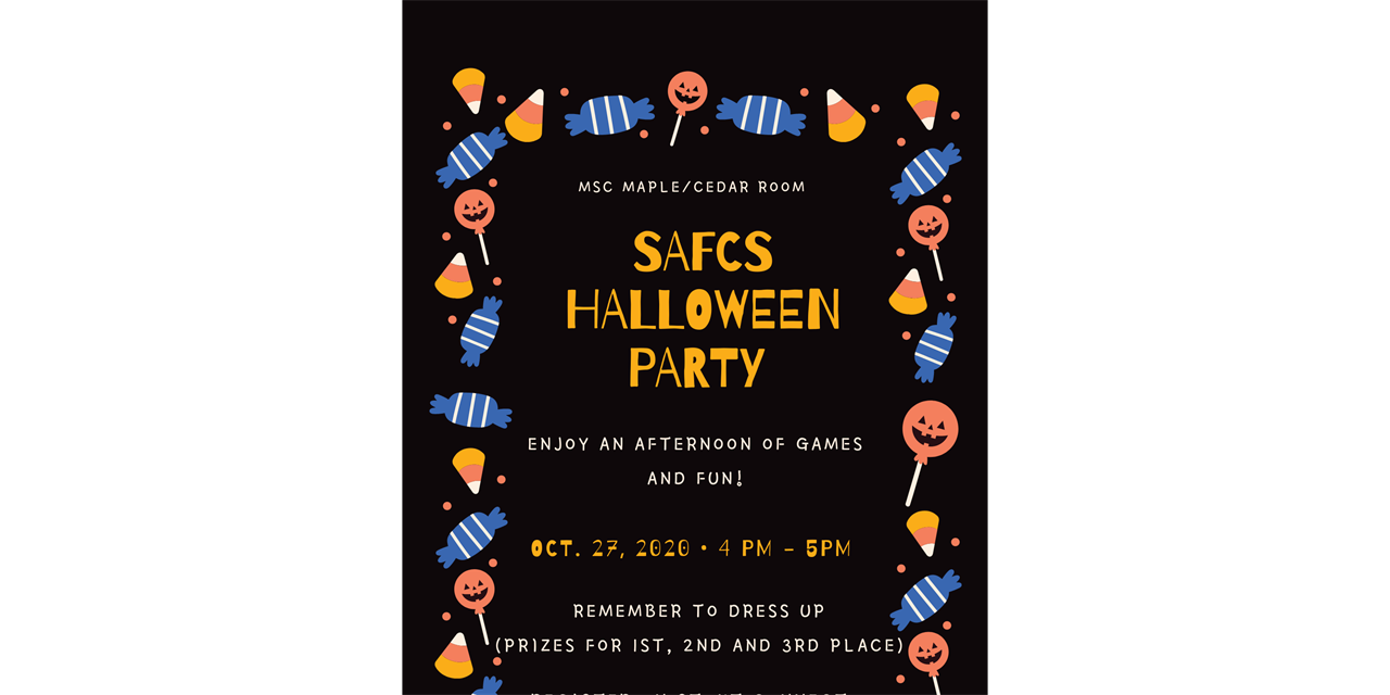 SAFCS Halloween Party Event Logo