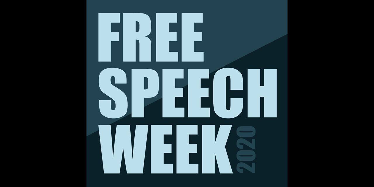 Free Speech Week: Pros & Cons of Banning Hate Speech Event Logo