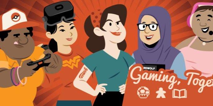 AMCS Women's Group Virtual Game Night Event Logo