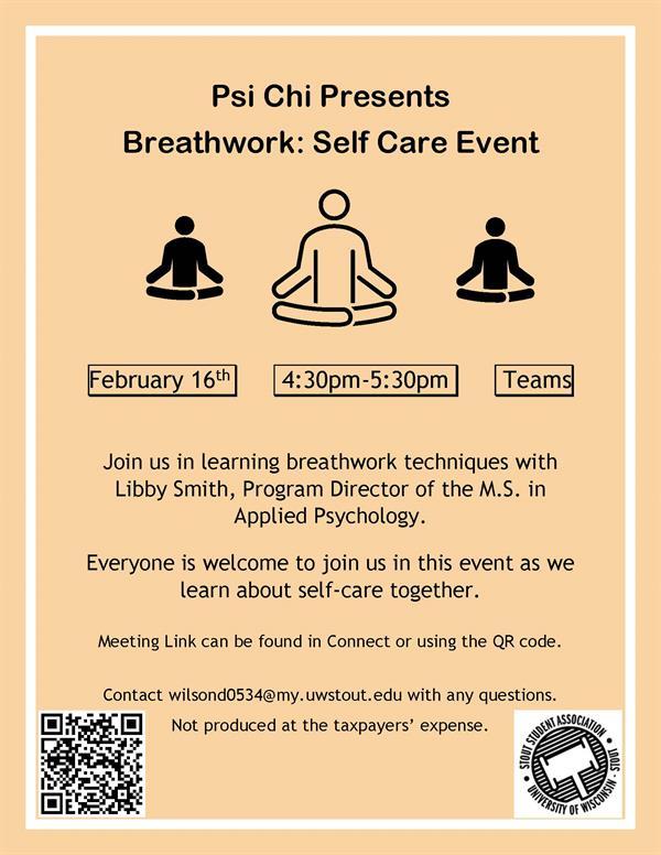 Flyer describing the Breathwork Event