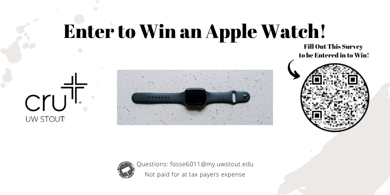 Enter to win an apple watch from Cru