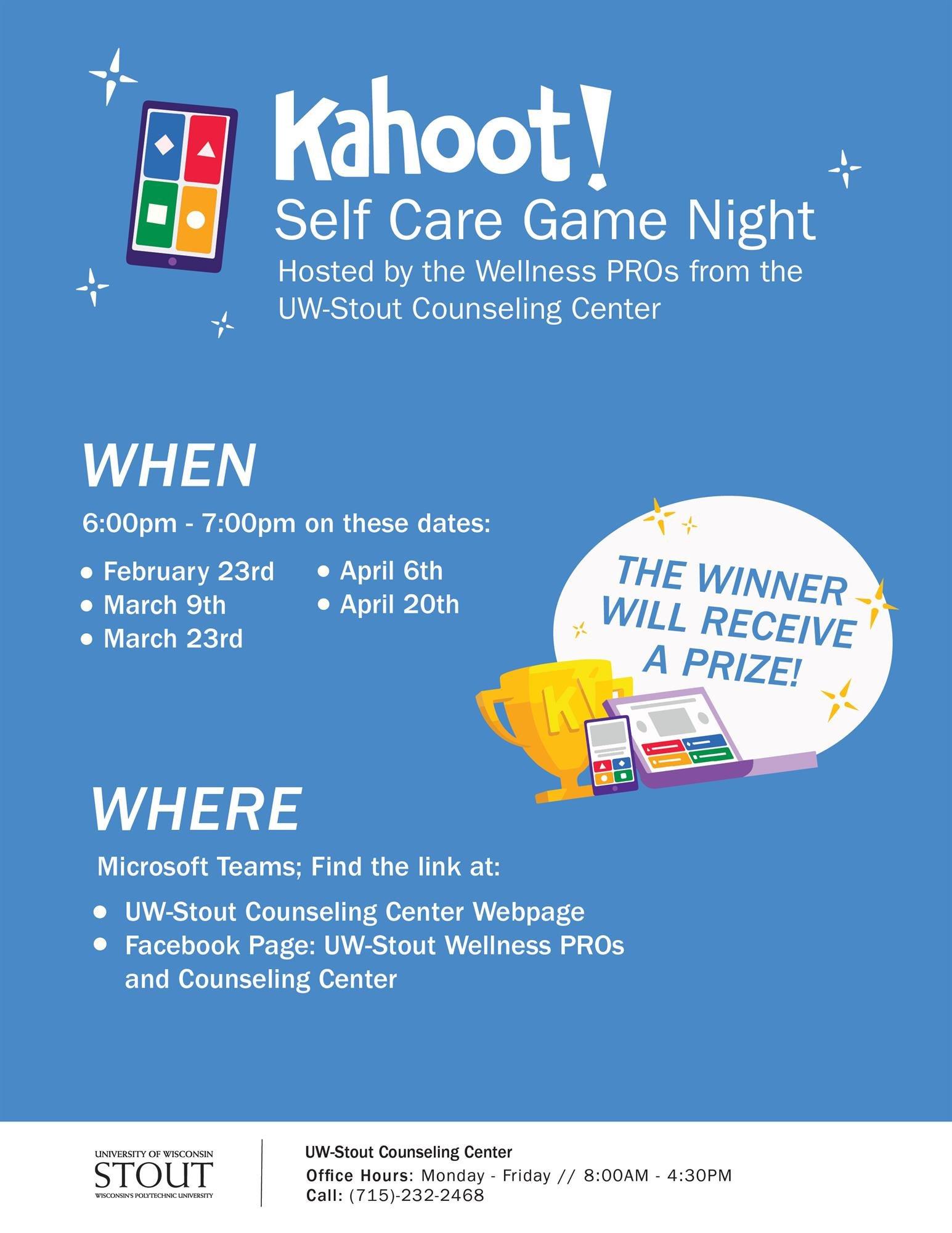 Kahoot! Self Care Game Night