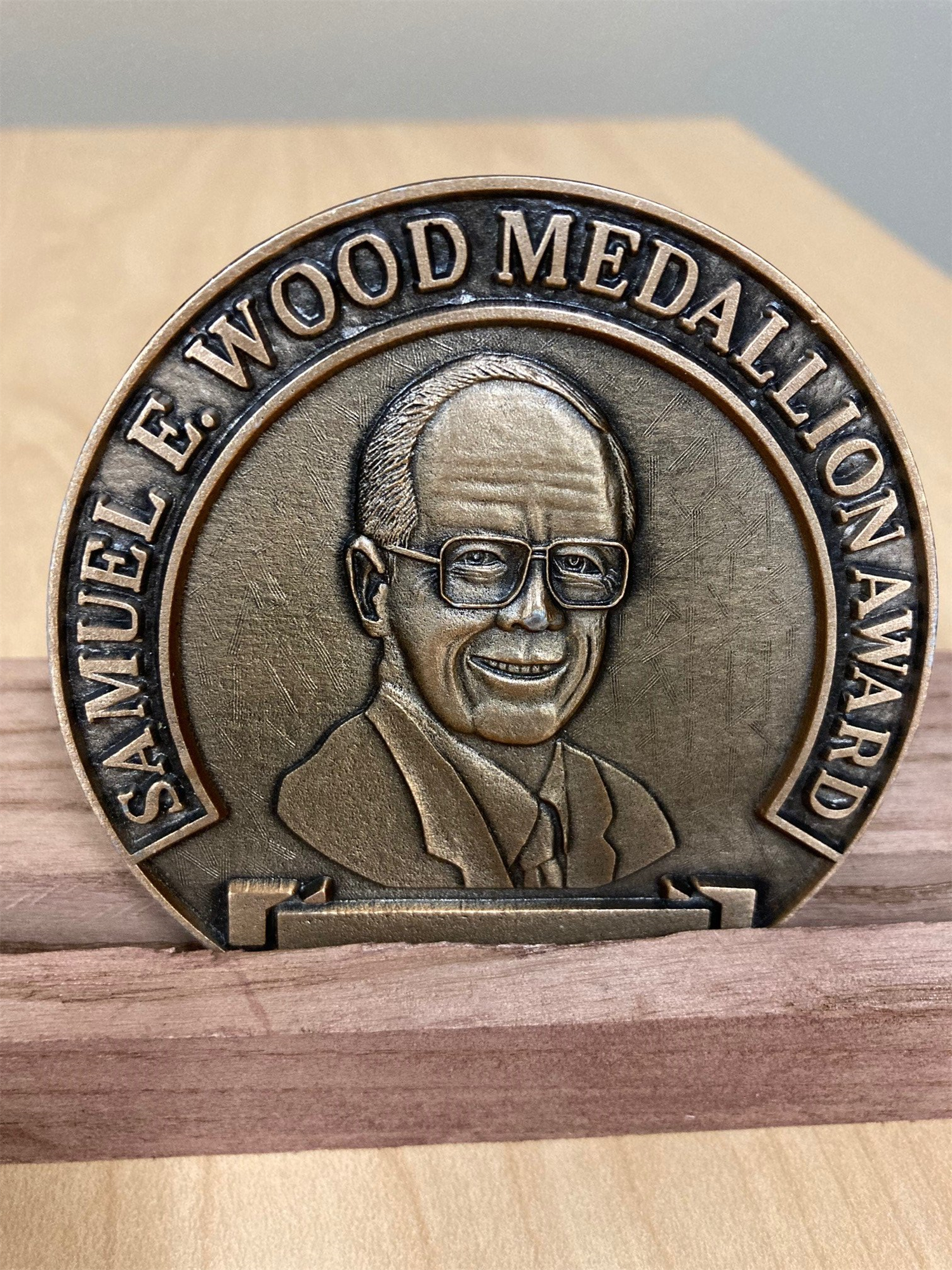 Photo of the Samuel E. Wood Medallion Award