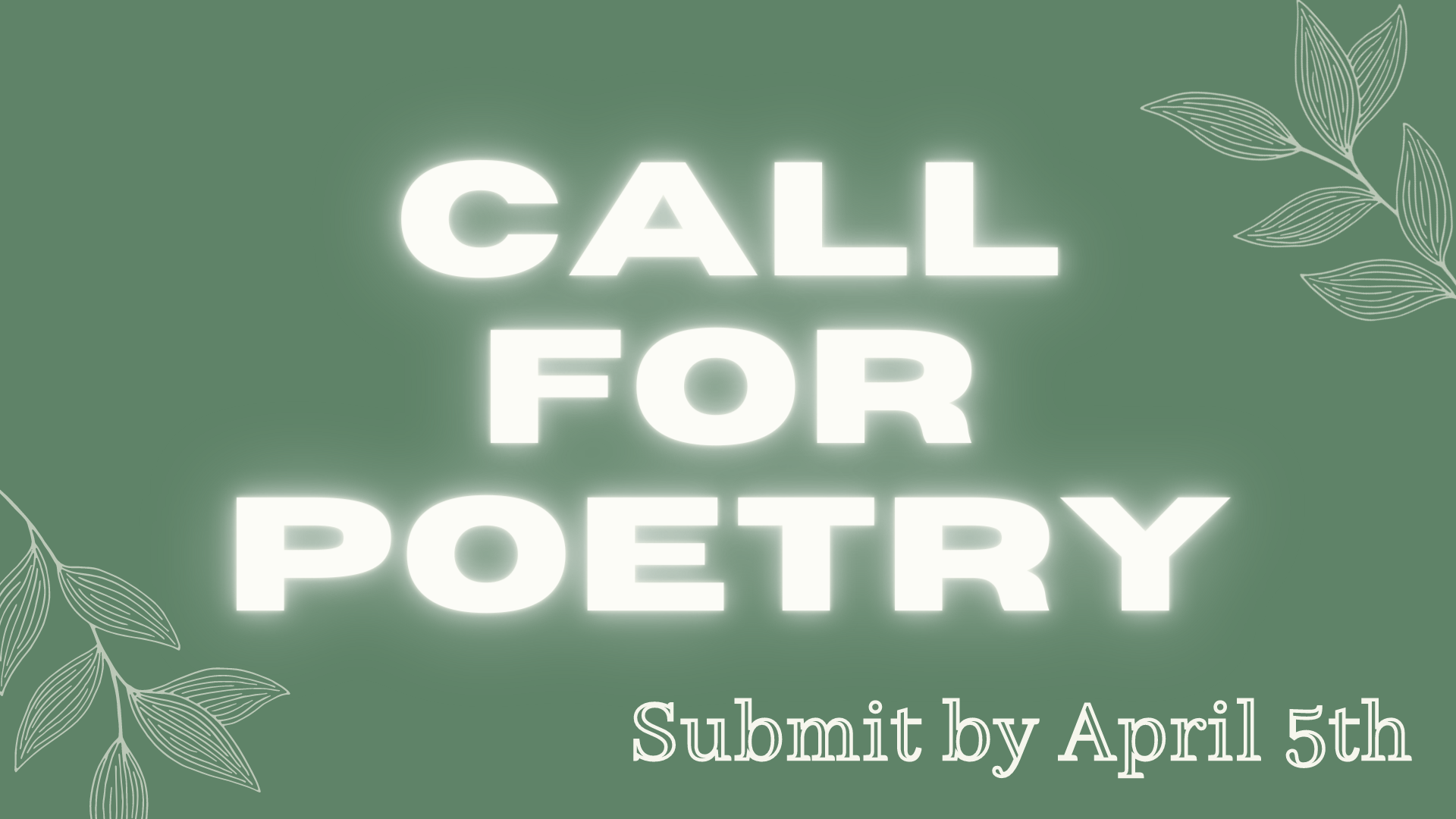 Call For Poetry