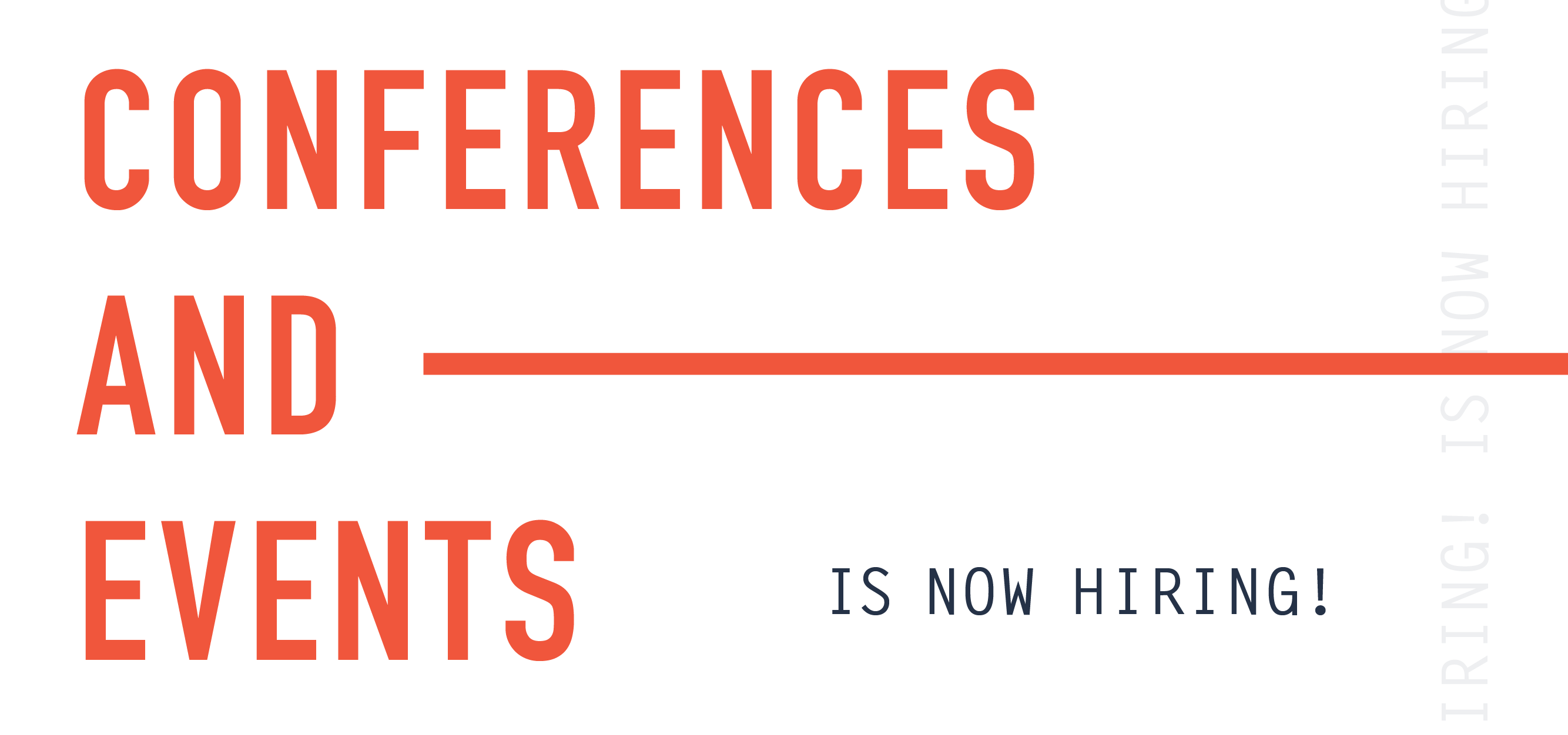 Conferences and Events is Hiring