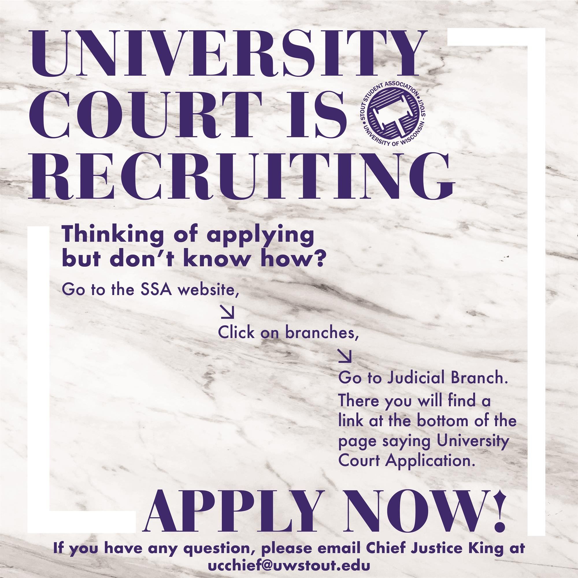 University Court is Recruiting