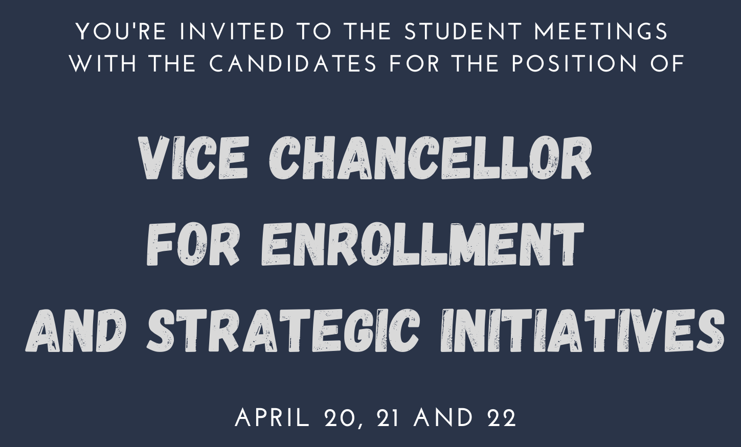 Vice Chancellor Candidates