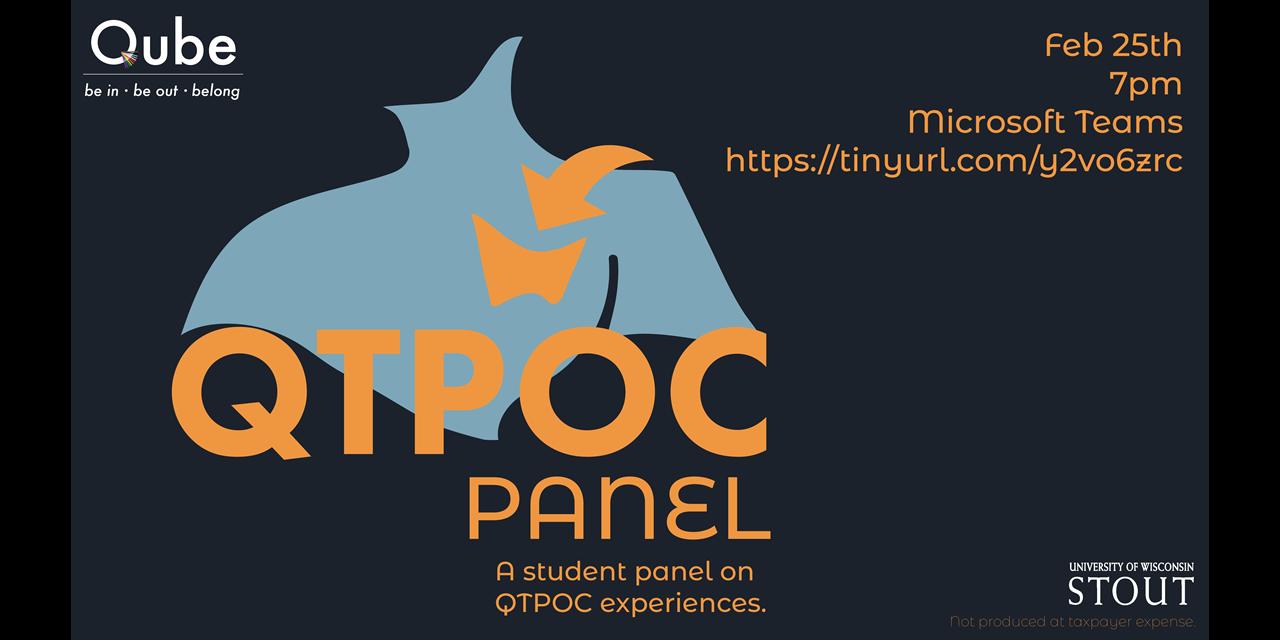 QTPOC Panel Event Logo