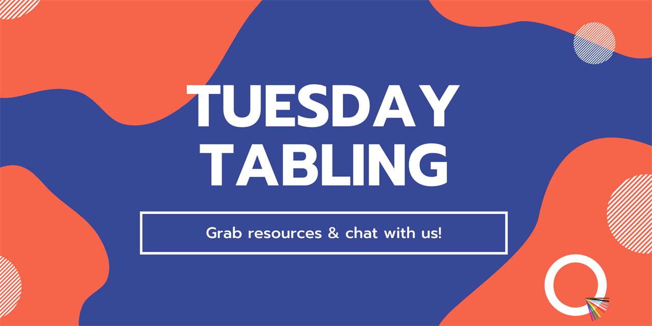 Tuesday Tabling   QUBE Event Logo