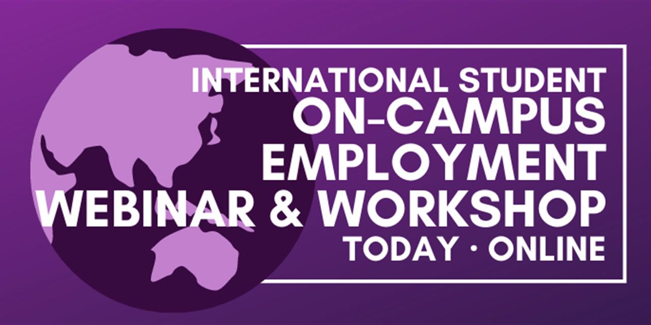 On-Campus Employment Workshop Event Logo