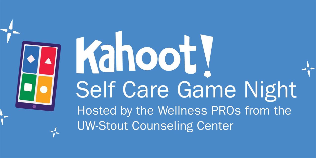 Kahoot Self Care Game Night Event Logo