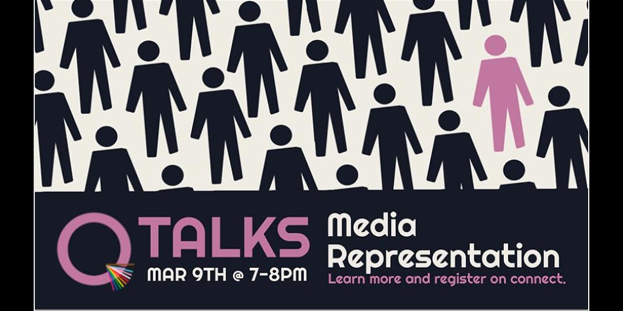 Q-Talk: Media Representation Event Logo