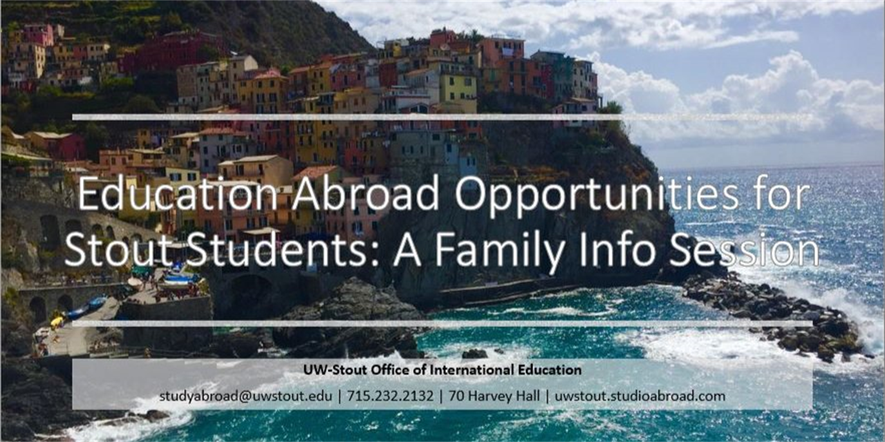 Study Abroad FAMILY Info Session Event Logo