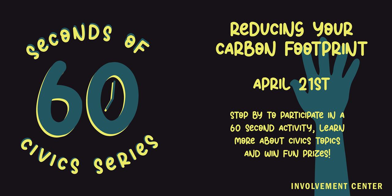 60 Seconds of Civics: Carbon Footprint Event Logo