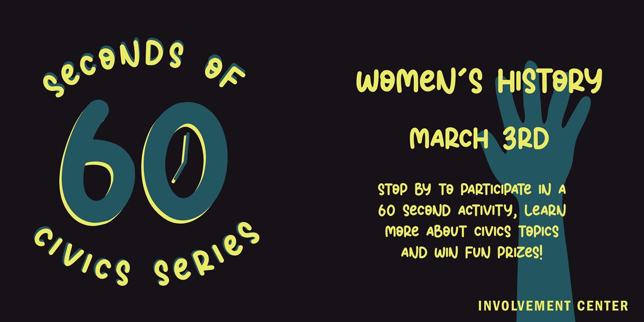 60 Seconds of Civics: Women's Rights Kahoot Event Logo