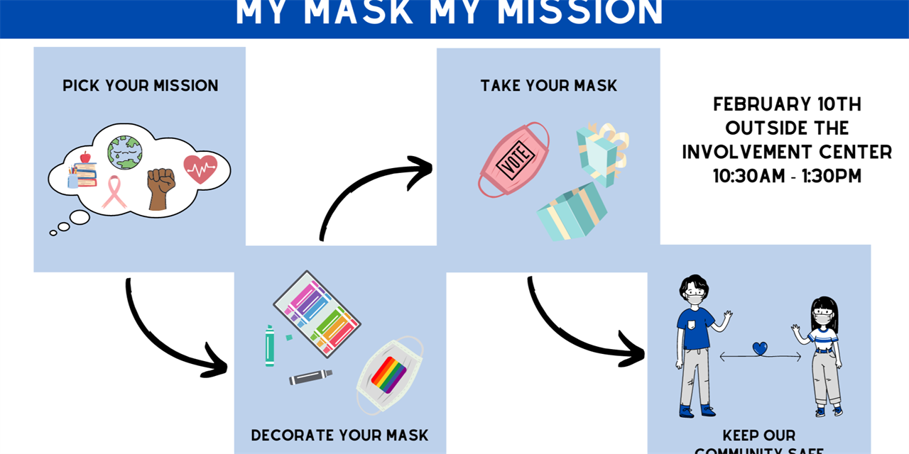 60 Seconds of Civics: My Mask My Mission Event Logo