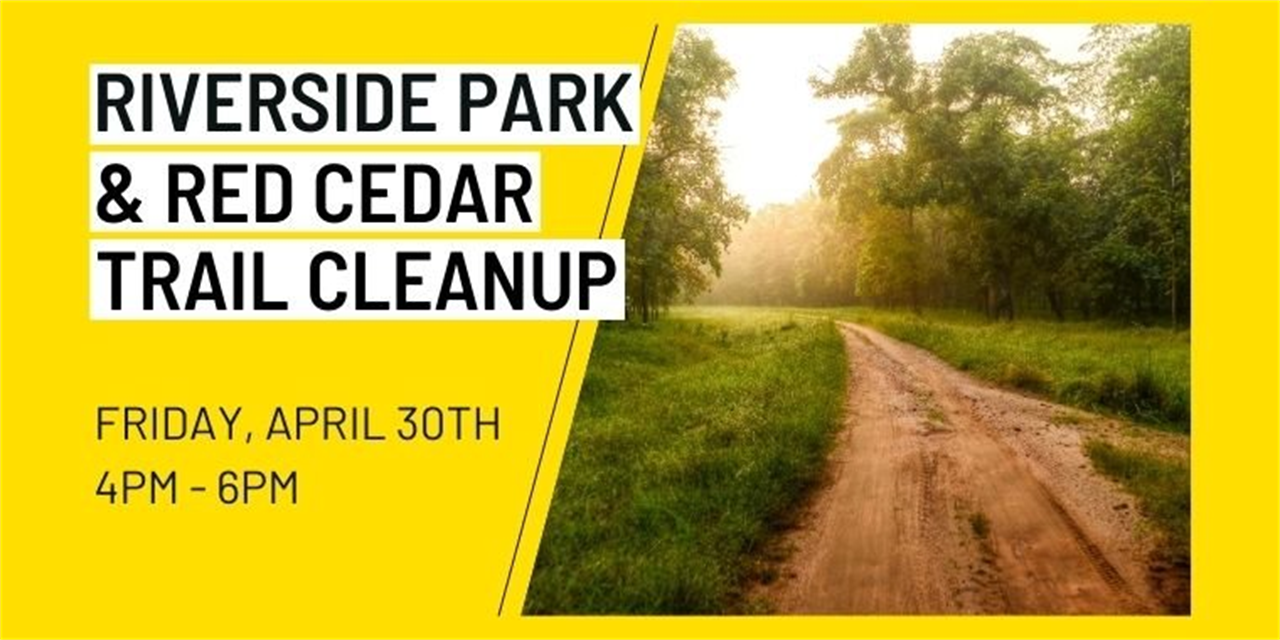 Riverside Park and Red Cedar Trail Cleanup Event Logo
