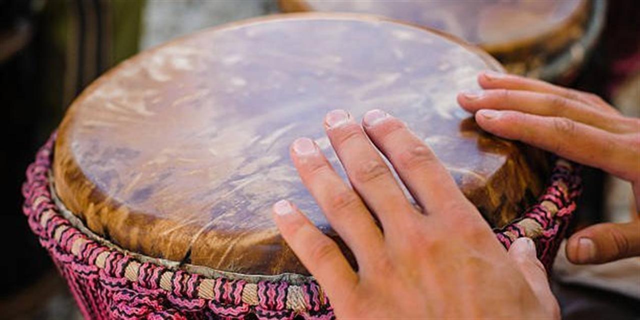 Hand Drumming Club Event Logo