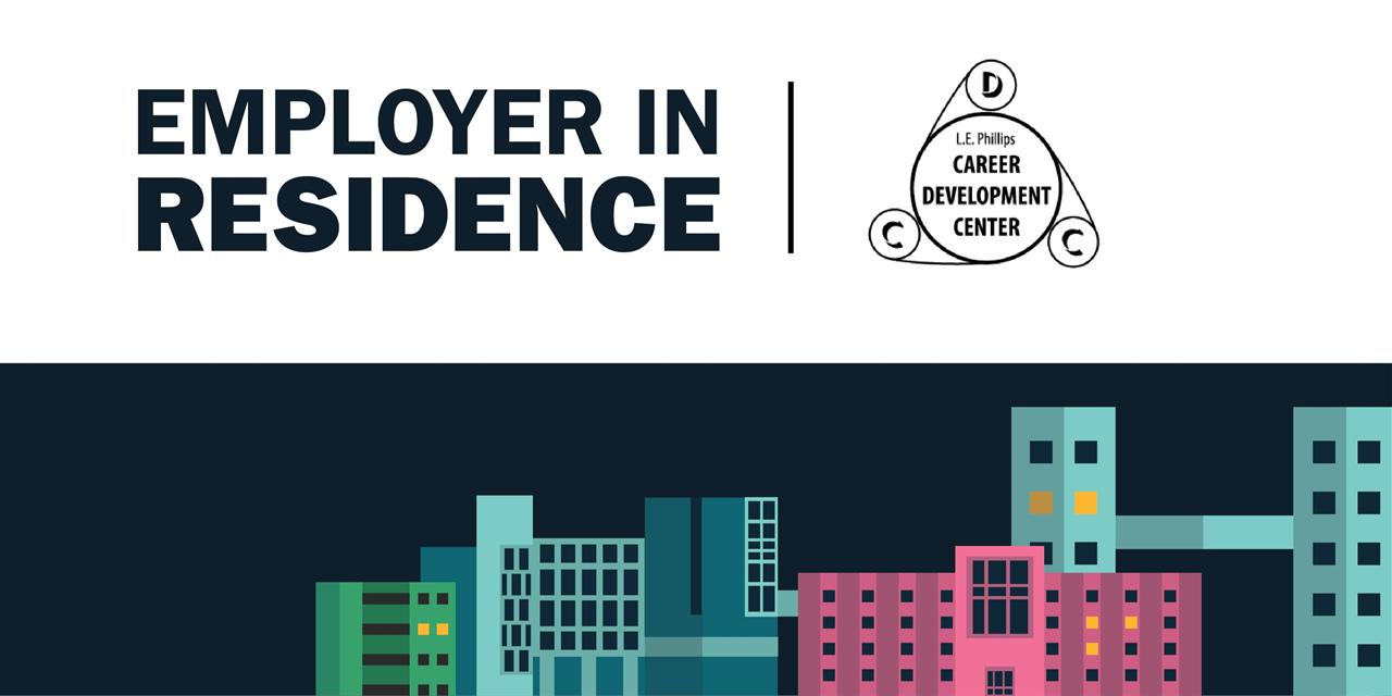 L.E. Phillips Career Development | Employer in Residence Event Logo
