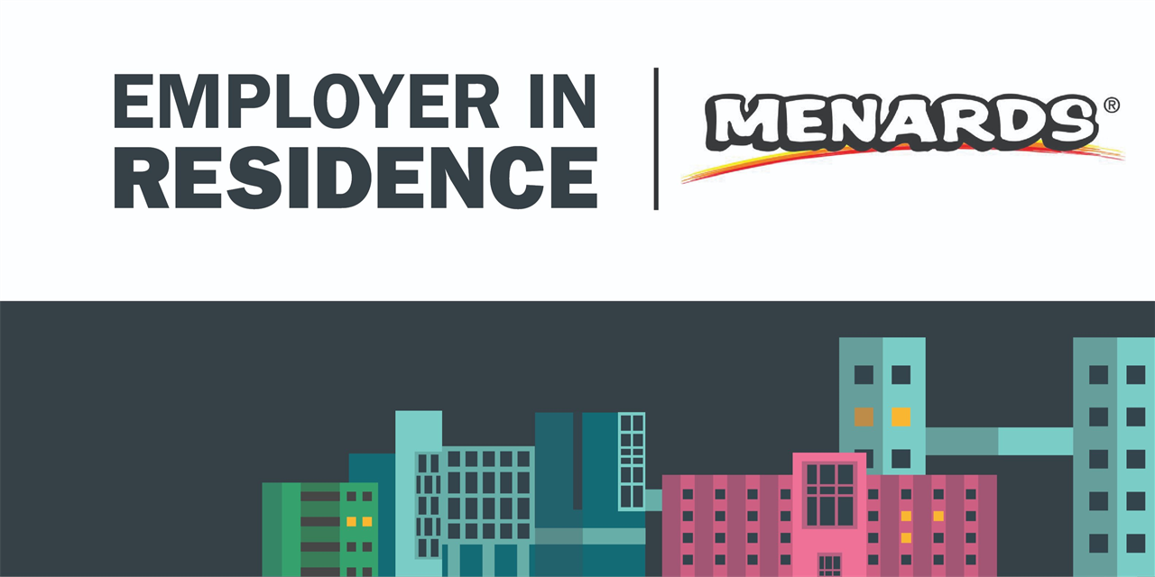 Menards   Employer in Residence Event Logo