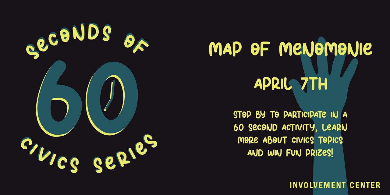 60 Seconds of Civics: Map of Menomonie Event Logo