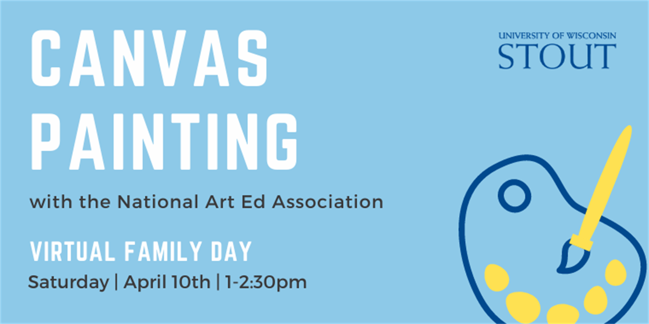 Canvas Painting | UW-Stout Family Day Event Logo