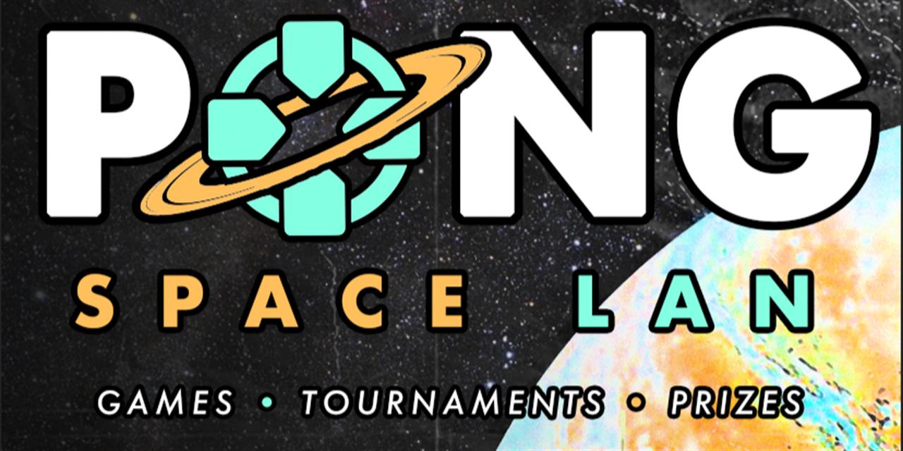 """PONG February """"LAN"""" (Space-lan) Virtual Event Logo"""