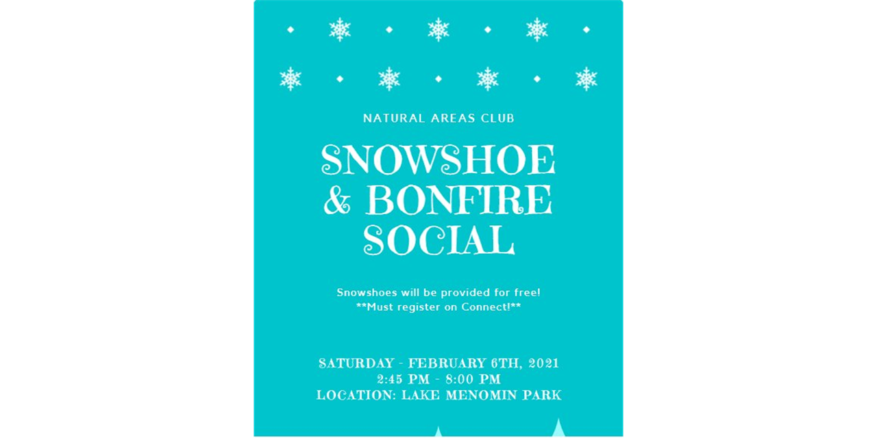 Natural Areas Club - Snowshoe to Bonfire Social ❄️ Event Logo