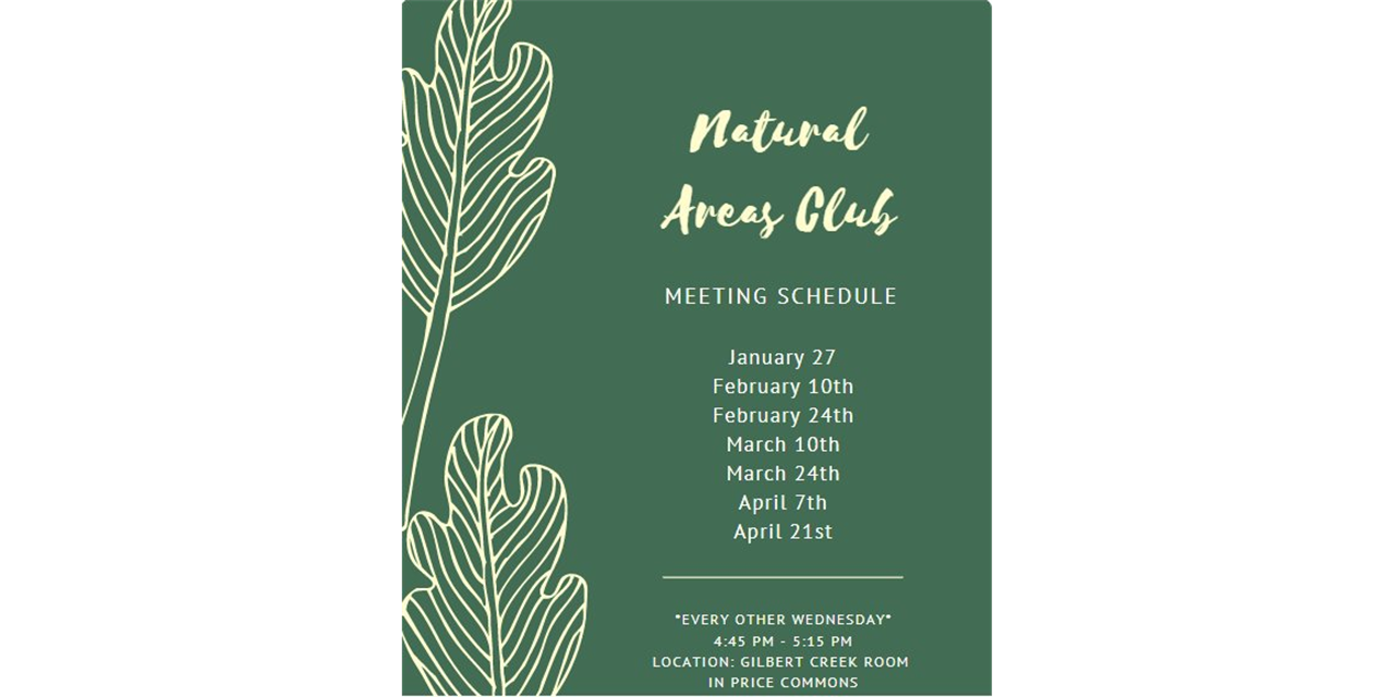 Natural Areas Club - Weekly Meeting Event Logo