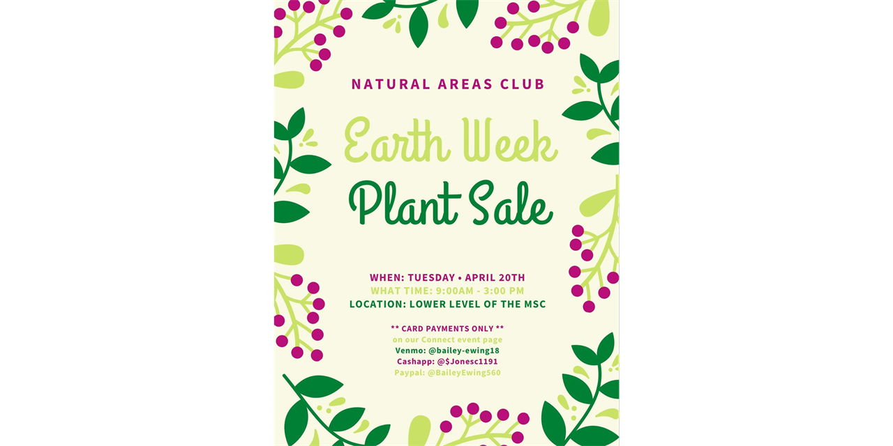 Natural Areas Club - Earth Week Plant Sale Event Logo