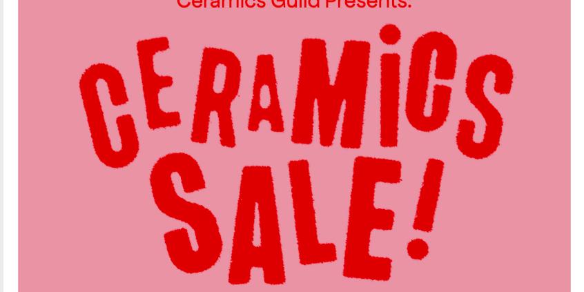 Ceramics Guild Sale Event Logo