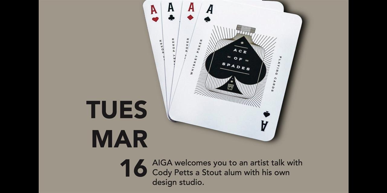 AIGA Artist Talk With Cody Petts Event Logo