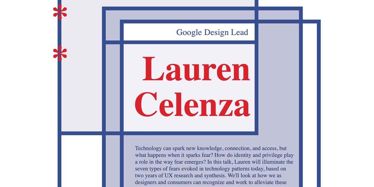 AIGA Talk with Lauren Celenza- Google Design Lead Event Logo