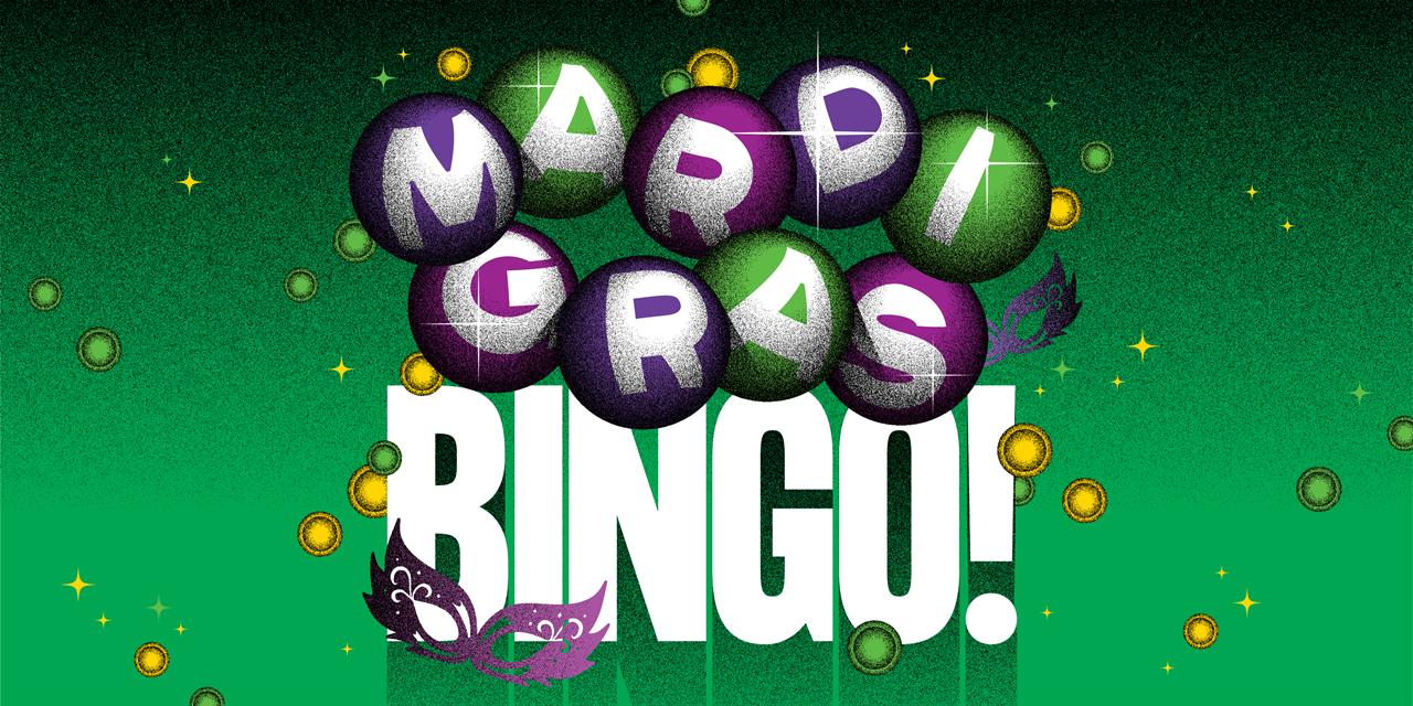 Mardi Gras Bingo Event Logo