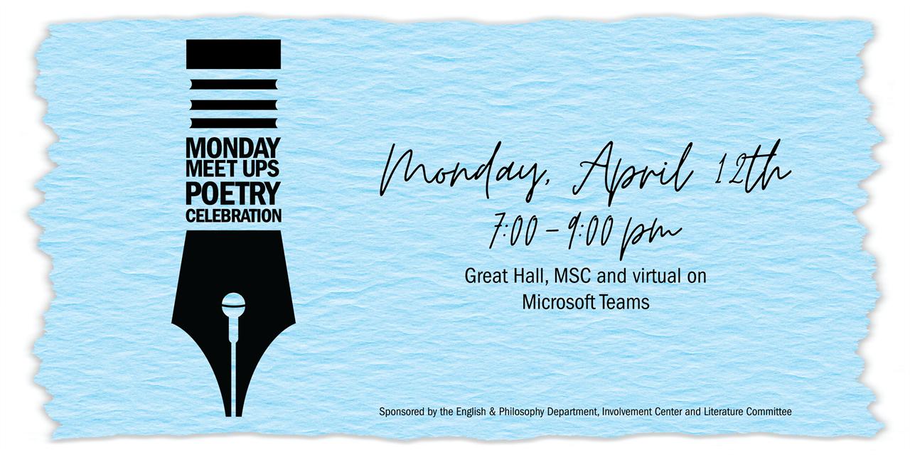 Monday Meetup   Poetry Celebration Event Logo