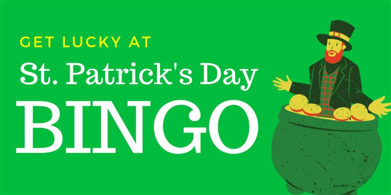 St Patty's Day Bingo Event Logo