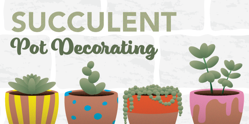 Makers Night   Succulent Pot Decorating Event Logo