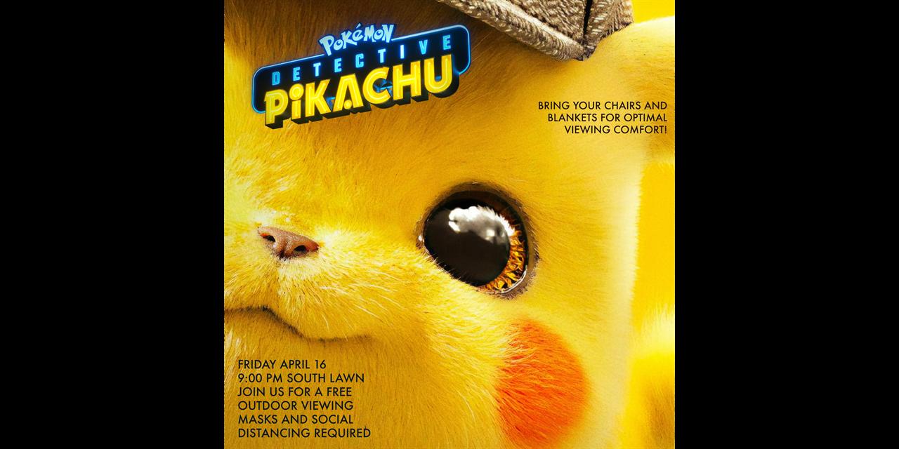 Outdoor Movie Detective Pikachu Event Logo