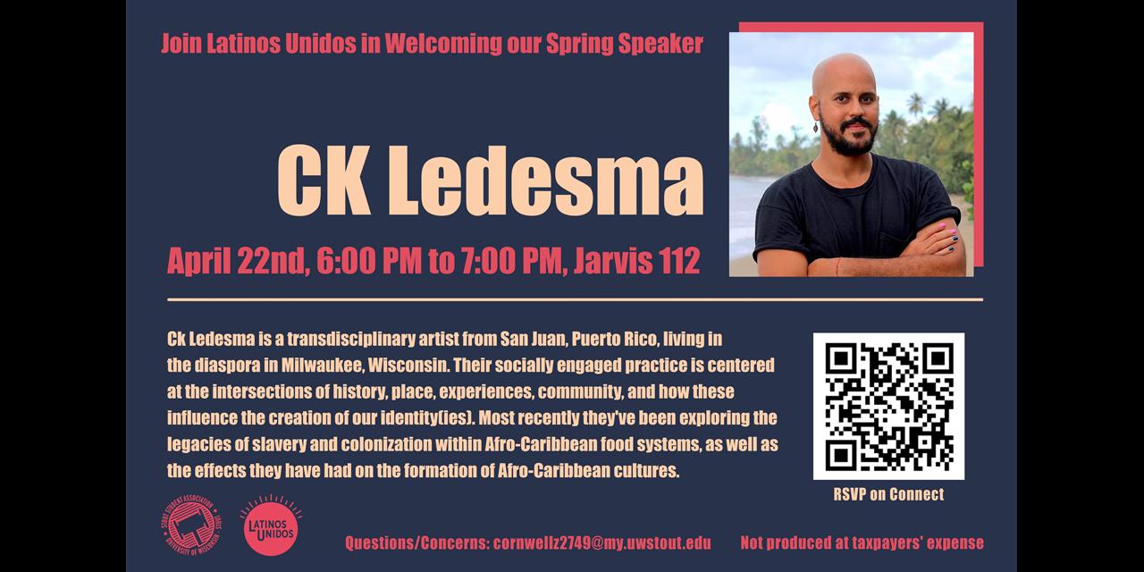 Latinos Unidos Spring Speaker - CK Ledesma Event Logo