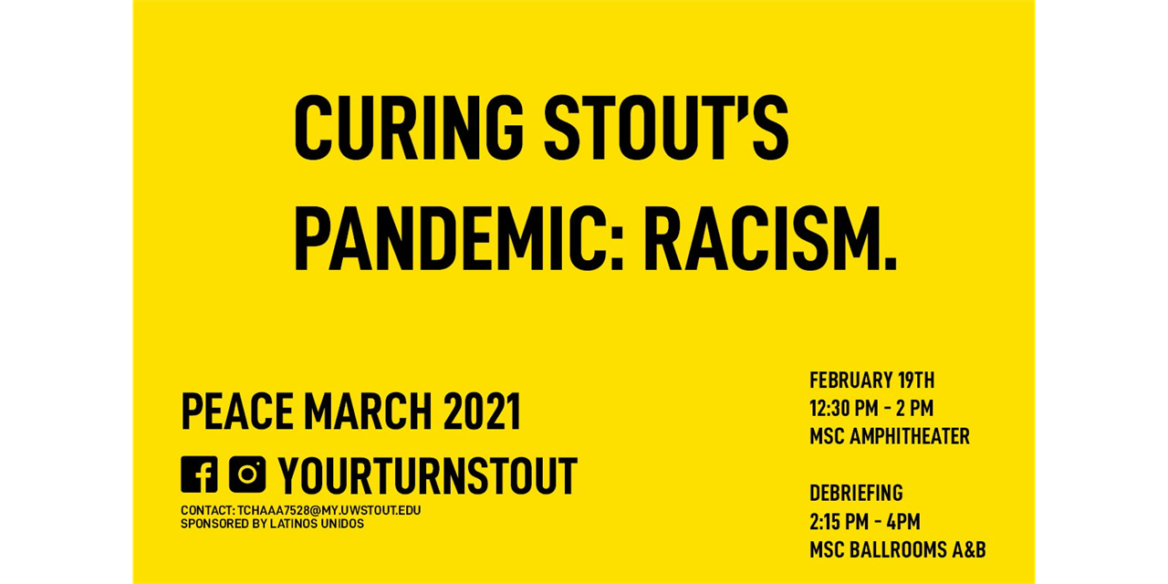 5th Annual Peace March   Your Turn, Stout Event Logo
