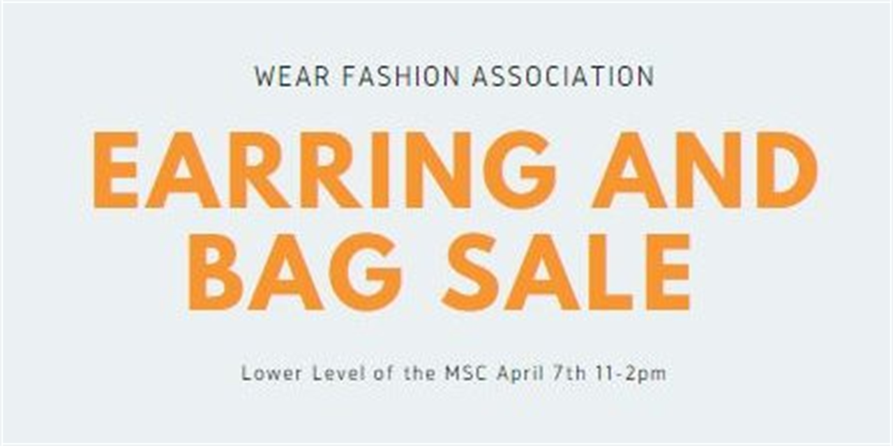 Earring and Bag Sale | WEAR Event Logo