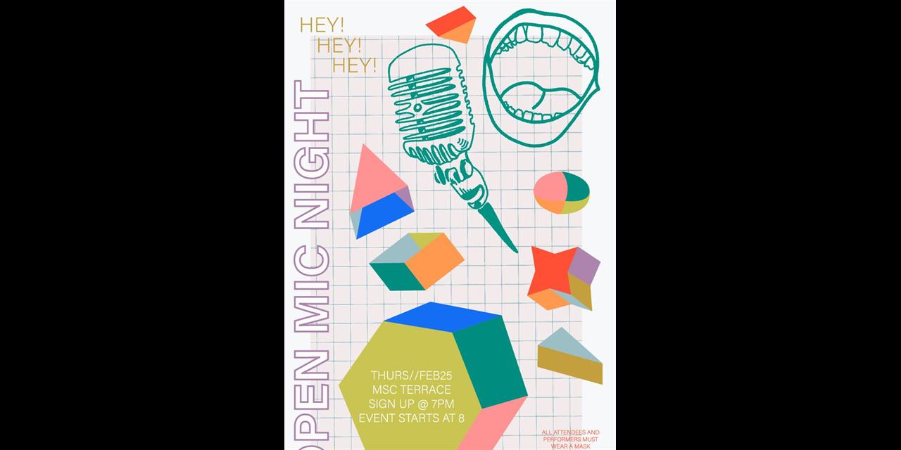 Open Mic Night Event Logo