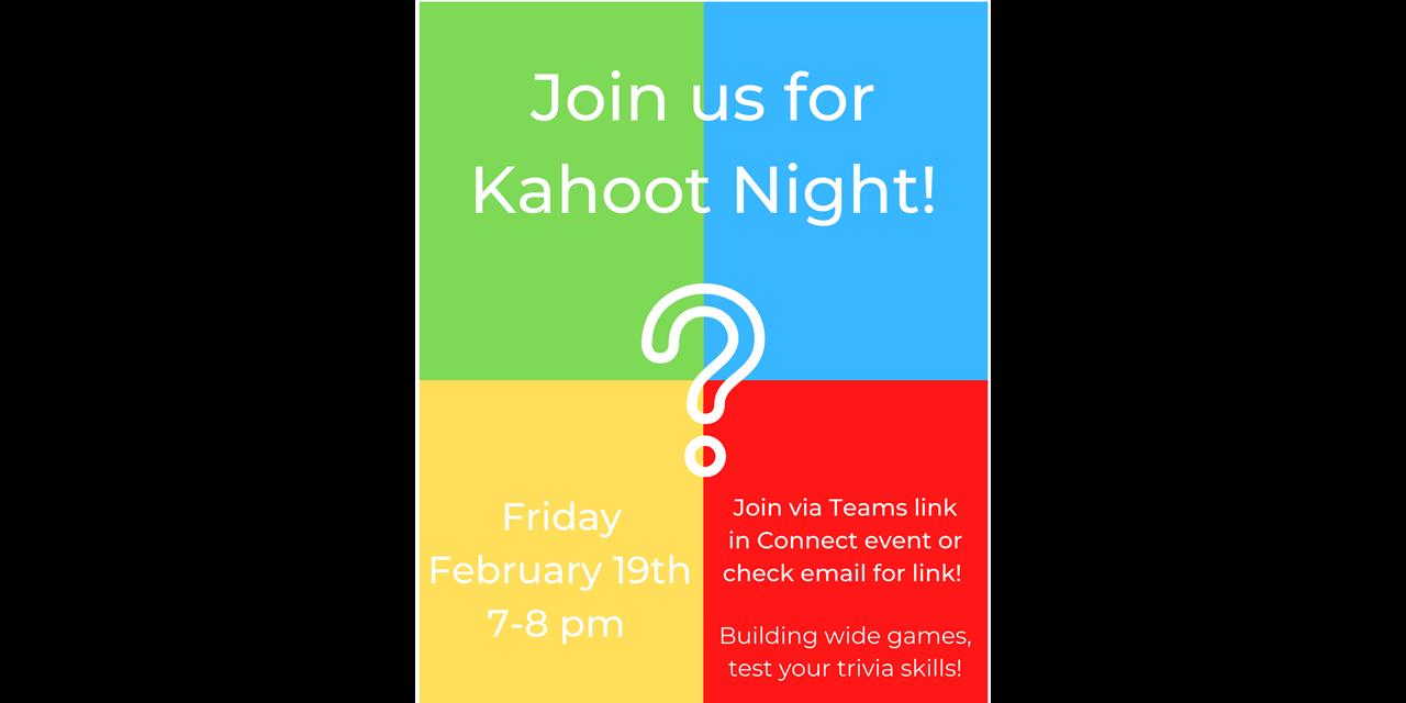 Kahoot Night Event Logo